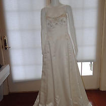 Nicole Miller Corset Back Wedding Gown Antique White Sizes 2 Nwt Photo