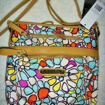 Nicole Miller Crossbody Purse Neon Retro Mosaic Photo