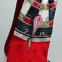 Nicole Miller Dart Game Red Silk Tie Cfti031 Photo