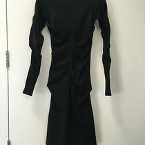 Nicole Miller Designer Black Midi Dress - Chic and Flattering Photo