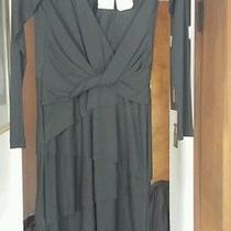 Nicole Miller Dress Solid Black Size M Photo