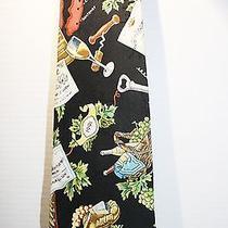 Nicole Miller European Wines Silk Tie Necktie 1994 Photo