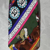 Nicole Miller Gambling Gaming Casino Silk Men's Tie Photo