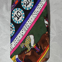 Nicole Miller Gambling Gaming Casino Silk Men's Tie Photo