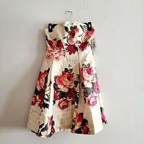 Nicole Miller Gold Floral Dress 2 Photo