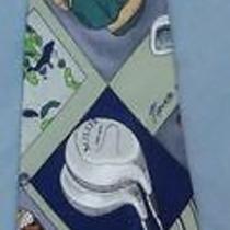Nicole Miller Golf Club Golfing Theme Tie Necktie P93 Photo