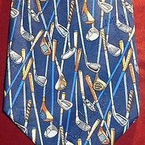 Nicole Miller Golf Clubs Design 100% Silk Tie 1997 Photo