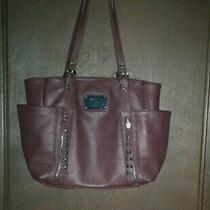 Nicole Miller Handbag Purse Tote Brown Photo