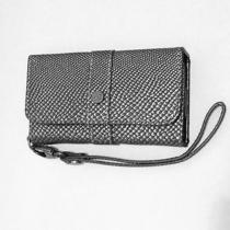 Nicole Miller Iphone 5 Snakeskin Embossed Wristlet/wallet Silver/black Nwot Photo