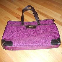 Nicole Miller Large Purply Paisley Tote 20