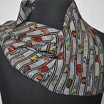 Nicole Millerluggagegolf Clubsbagsmulit Colors Silk Square Scarf 20 X 20.5 Photo