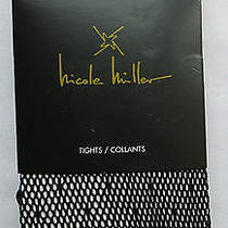 Nicole Miller M/l Fishnet Design Tights Black Sexy Nylon/spandex Full Length New Photo