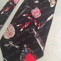 Nicole Miller Medicine-Themed Tie 100% Silk 1996 Like New Photo