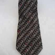 Nicole Miller Men's Golf Club Hand Sewn Silk Neck Tie Pre-Owned 100% Silk Photo