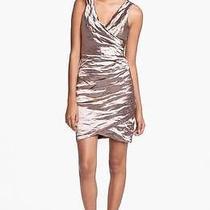 Nicole Miller Metallic Techno Metal Sheath Dress Cava Size 0 Photo