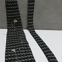 Nicole Miller Necktie 100% Silk Hand Sewn W/golf Clubs Hole W/flag Balls Photo