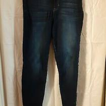 Nicole Miller New York High Rise Skinny Blue Jeans Size 12 Cotton/polyester Photo