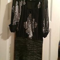 Nicole Miller Ruched Metal Taffeta Dress Photo