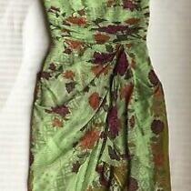 Nicole Miller Silk Dress Size 4 New Ship Free 100% Silk Paisley Lined Photo
