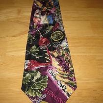 Nicole Miller Silk Neckwear Necktie Wine Grapes  Photo