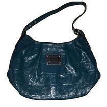 Nicole Miller Teal Pretty Girly Satchel Handbag Purse Euc Photo