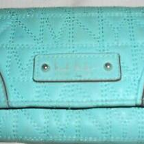 Nicole Miller Teal Tri Fold Women's Wallet in Teal Pvc Photo