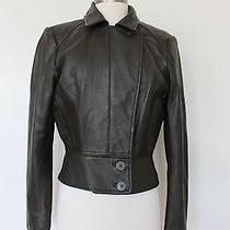 Nicole Miller Trendy Green Leather Jacket Photo