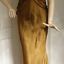 Nicole Miller Twist Back Silk Satin Gown (Size 12) Photo