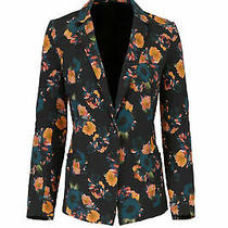 Nicole Miller Women's Blazer Black Size Small S Two-Button Floral 495- 158 Photo