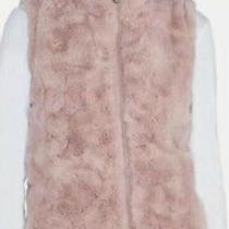 Nicole Miller Womens Original Faux Fur Reversible Vest Medium Xl Blush Nwot Photo