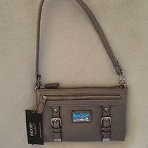 Nicole Miller Women Wrist Purse/wallet  Metallic Silver New  Photo