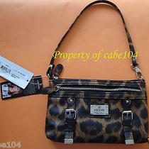 Nicole Miller Women Wrist Purse/wallet Neutral Leopard - New With Tag  Photo