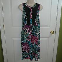 Nicole Miller Womens 16 Rayon Sleeveless Vivid Colors Summer Dress-Nice Photo