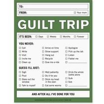 Nifty Notes Guilt Trip Mother Novelty Desk Notepad New Photo