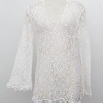 Nightcap White Cotton Lace Crochet Knit Free People Top Shirt Blouse Sweater 2/s Photo