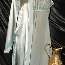 Nightgownpeignoir Set Size L by Unbranded/apt 9.  Soft Aqua and Beautiful. Photo