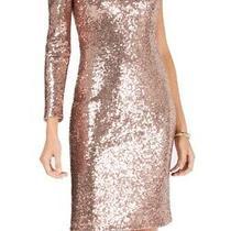 Nightway Women's Dress Blush Pink Size 10 One-Shoulder Sequin Sheath 109 142 Photo