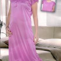 Nighty 1pc Night Slip A196 Purple Fancy Soft Nightie Gown Maxi Bed Babydoll Long Photo