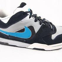 Nike Air Contra Athletic Skate Shoes Mens 7 M Gray Black Blue Suede Sneakers Photo