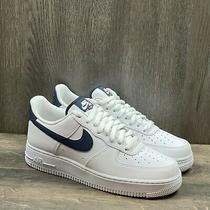 Nike Air Force 1 Low Sneaker Men's Size 8  Women's Sz 9.5 White Navy Cj1607-100 Photo