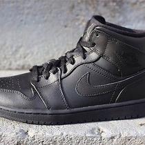 Nike Air Jordan 1 Mid Black/black Photo