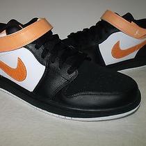 Nike Air Jordan 1 Strap Low Mens Athletic Shoe New (Black/orang) New Men Sz 10.5 Photo