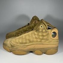 Nike Air Jordan 13 Retro Bg Sz 6.5y Wheat Elemental Gold 414574-705 Photo