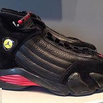 Nike Air Jordan 14 Retro Last Shot 2005 Black Varsity Red 311832-002 10 New Photo