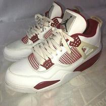 Nike Air Jordan 4 Retro Alternate '89 Men's Size 13 Sneakers White Red Shoes Photo