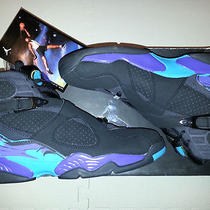 Nike Air Jordan 8 Aqua Retro Size 12 Us 11 Uk 1 3 4 5 6 7 9 10 12.5 11.5 Max Bin Photo
