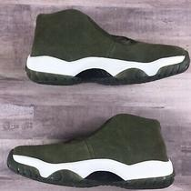 Nike Air Jordan Future Womens Size 7.5 Olive Canvas Ar0726-300 New Without Box Photo