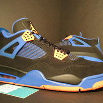 Nike Air Jordan Iv 4 Retro Cavs Last Shot Black Cement Grey Orange Blue White 13 Photo