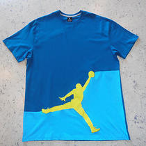 Nike Air Jordan Men's Jumpman T-Shirtsize 2xlcotton S/s Aqua Blues Nwt 42 Photo