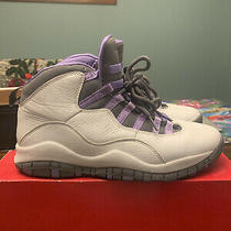 Nike Air Jordan Retro 10 Violet Size 8.5 Womens Sneakers Photo